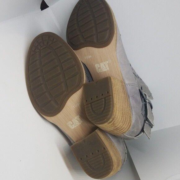caterpillar les chaussons de de de cuir gris 5.5w cheyenne