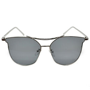 With Eye Cat Silver Wire About Details Frame Grey Sunglasses Lens Reflective Yfvbyg67