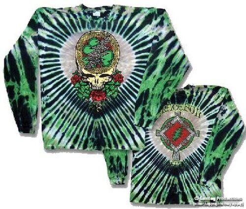 """GRATEFUL DEAD /""""celtic shamrock/"""" Double Face Long Slv T-Shirt-Livraison gratuite"""