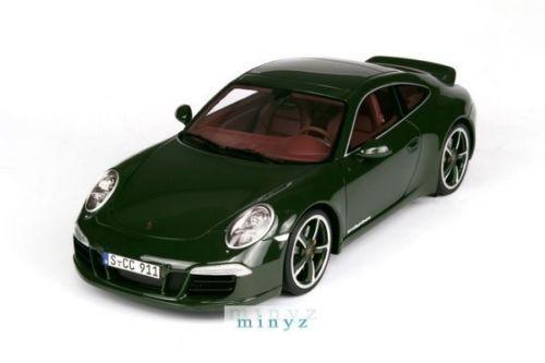 1 18 Gt Spirit - 2012 Porsche 911  991 voitureRERA S CLUB Coupé Vert Lmtd.    haute qualité
