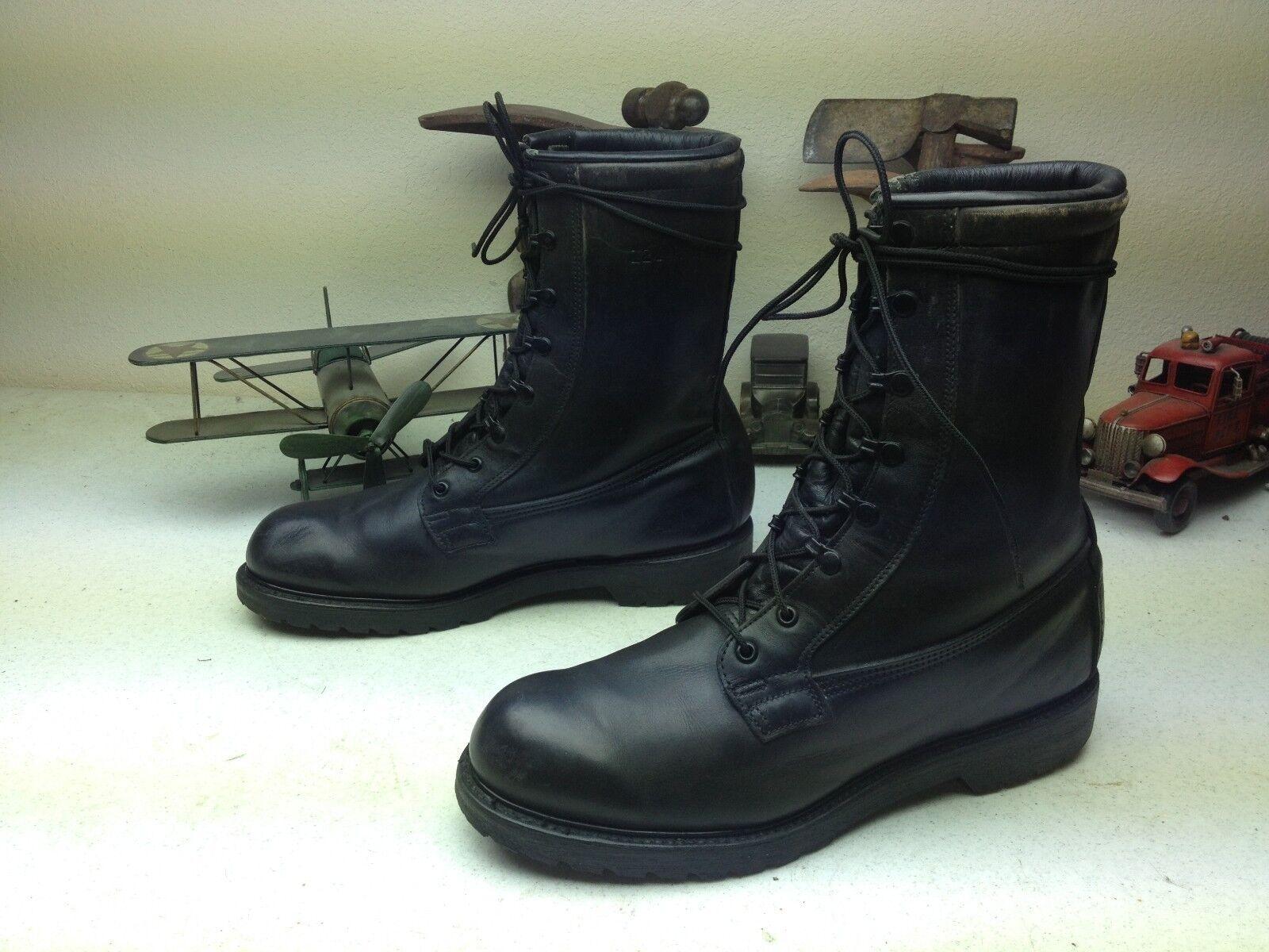 Hecho En Usa De Cuero Negro ingeniero militar Motocicleta Trabajo botas D