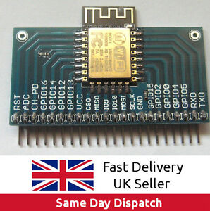 ESP8266 ESP-12F WiFi Wireless Wi-Fi Module + Vertical Breakout Board, UK, FAST