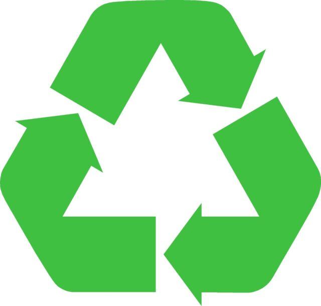 2x Reciclar Pegatinas Logotipo Pegatina Reciclaje