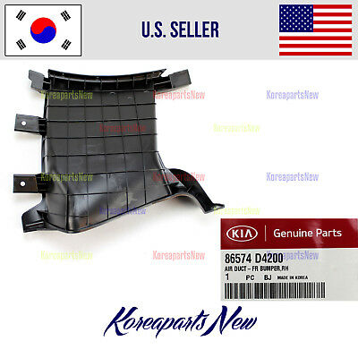 KIA OEM 16-18 Optima Front Bumper Grille-Air Duct Right 86574D5000