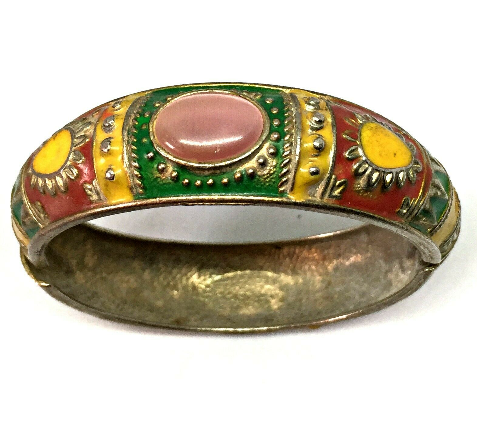 smooth and patina Moroccan Jewelry 2 12 inches diameter, antique primitive Berber Atlas silver dowry bangle