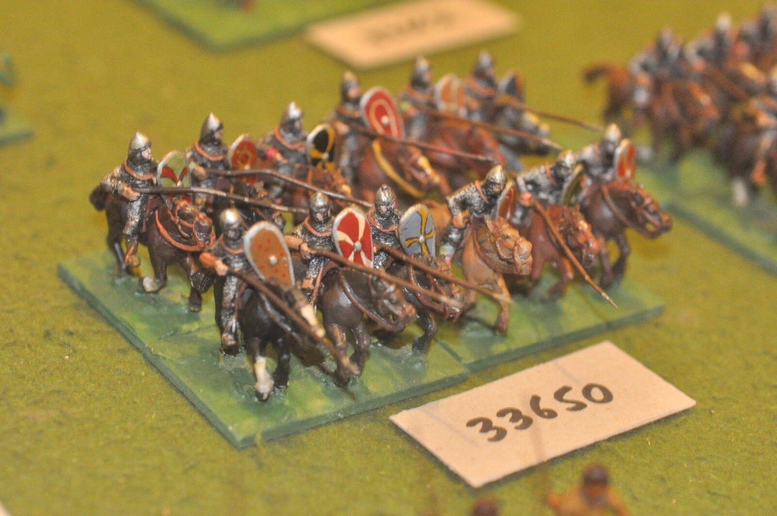 25mm medieval   norman - milites 12 figures - cav (33650)