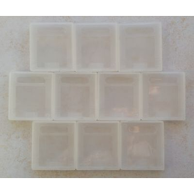 10 Boîtiers de protection Game Boy GB GBC GBP - boîte rangement étui plastique
