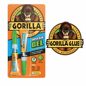 Details about Gorilla® Superglue Gel Twin Pack (2 x 3gm) Waterproof Wood  Metal Rubber Paper