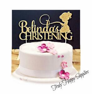 Christening Cake Topper Personalised Name Girl Boy Baptism 28
