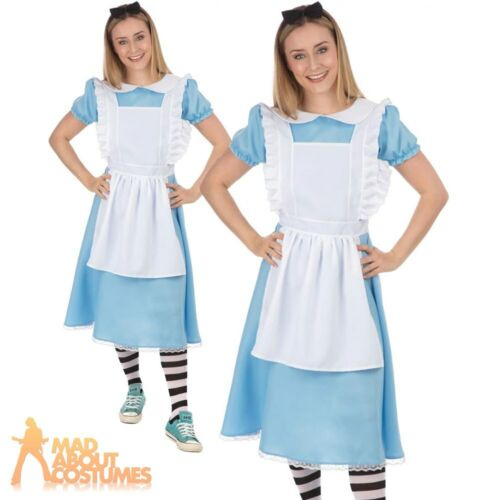 Adult Ladies Alice Costume Fairytale Wonderland Book Day Fancy Dress Outfit