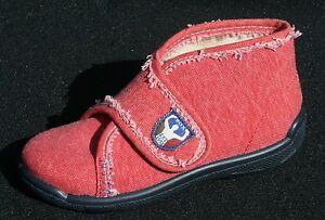 Romika-Caja-Zapatos-Nino-M-25-10-Bebes-Rojo-Claro-Vaqueros-Gancho-Lazada-Cierre