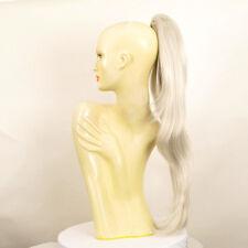 Haarteil Pferdeschwanz lange 70cm weiß 5 60