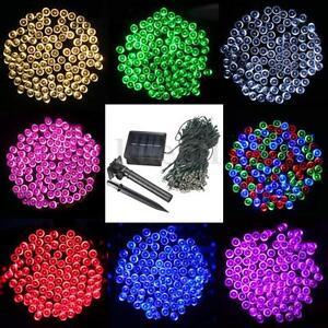 Solar-Lichterkette-100-500-LED-Weihnachtsbaumkette-beleuchtung-Strip-Party-Deko