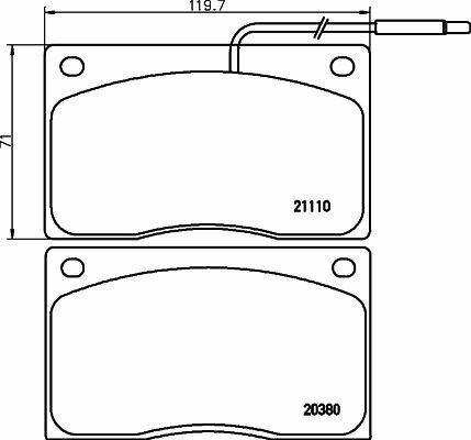 MINTEX MGB443 BRAKE PAD SET DISC BRAKE Front