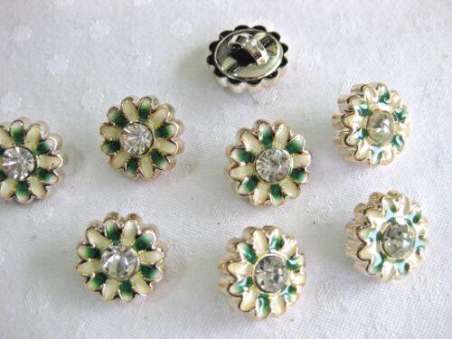 aprox flor dos colores color elegibles 17mm 7 botones bonitos con joyas de piedra K 139