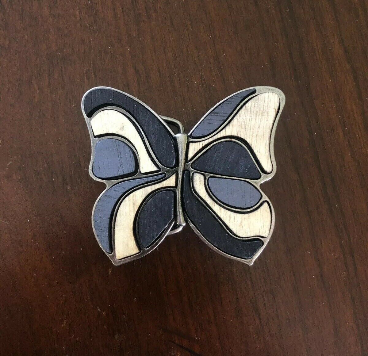 Real Wood Wooden Brown Butterfly Stylish Hippy Fashion Style Women's Belt Buckle