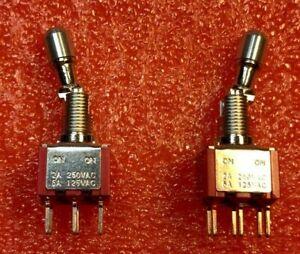 10-x-Taiway-100-DP1-TL00BLM2QE-Miniature-Locking-Toggle-Switch