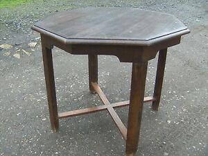 Tisch 8 Eckig.Details Zu Gründerzeit Beistelltisch Jugendstil Tisch Art Deco 8 Eckig Eiche Rauchertisch