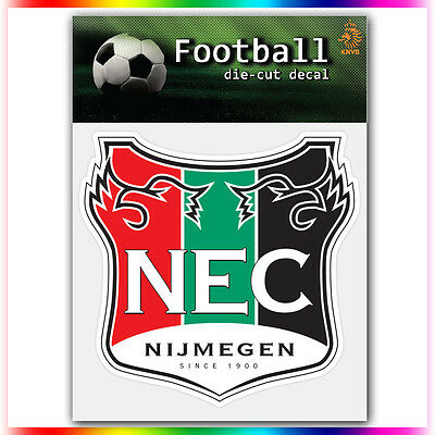 "NEC Nijmegen UEFA Die Cut Vinyl Sticker Car Bumper Window 4""x4"""