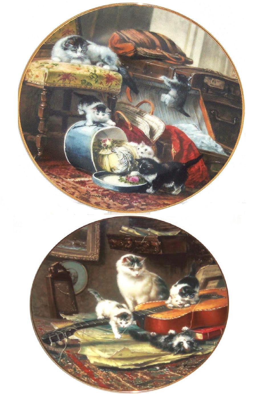 Viktorianisch Katze Kitty Kätzchen Kätzchen Kätzchen Sammler Teller mit George Henriette Renner | Diversified In Packaging  44fcf5