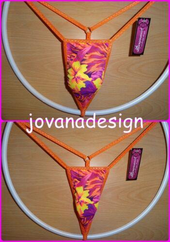 arancione Hawaii Jovanadesign più piccolo micro perizoma da uomo viola senza cuciture XS-XL