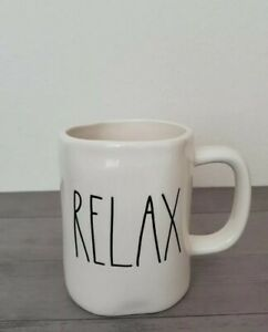 NEW-RAE-DUNN-by-Magenta-RELAX-Coffee-Tea-Mug-Farmhouse-Fall-Home-Decor