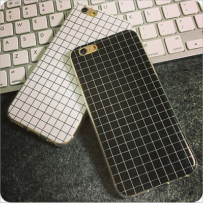 Ultra-thin Slim Concise Grid TPU Skin Case Cover For Apple iPhone 5/5S 6/6 Plus