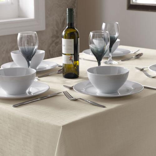 Choice of Colours /& Sizes Table cloth Linen Look Plain dye