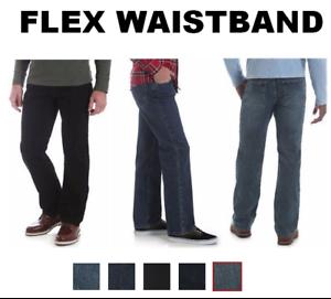 Nouveau-Wrangler-Performance-Series-Regular-Fit-Comfort-Flex-ceinture-Jeans-Homme