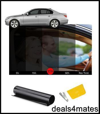 Finestra Auto Nero Tint Film Tinteggiatura Casa Ufficio Fumo 35% 76 Cm X 3 M Nuovo-