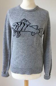 Lambswool Maglione Xxs Fish Uniqlo Logo Grigio Unisex X Designer Anderson Maglione Jw vXtx00