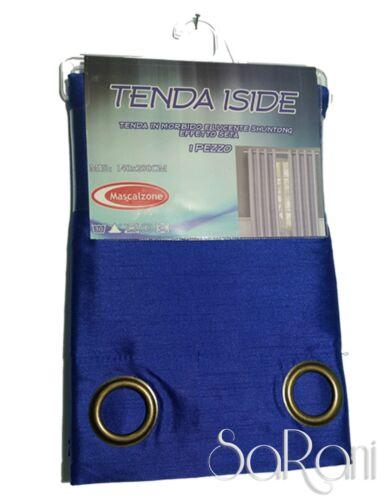 Tenda ISIDE Raso Effetto Seta Shantung 1 Pannello Blu 140x290 SARANI