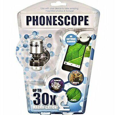 """Qualificato Nuovo """"phonescope"""" Cellulare Microscopio-zoom Ingrandimento Fino A 30x-mostra Il Titolo Originale"""