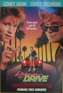 LICENSE TO DRIVE ADVANCE(1988)COREY HAIM  ORIGINAL ONE SHEET POSTER ROLLED