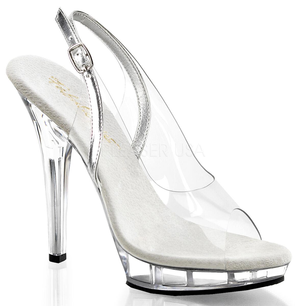 PLEASER Sexy Strip-teaseuse Danseuse Plateforme Talon Haut Bride Arrière Bout Ouvert chaussures Pointure