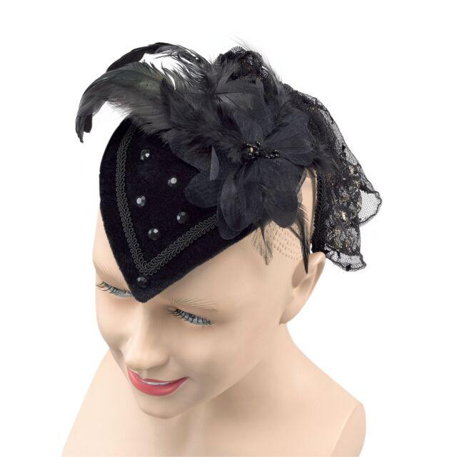 Black Teardrop Hat Fancy Dress Costume Prop