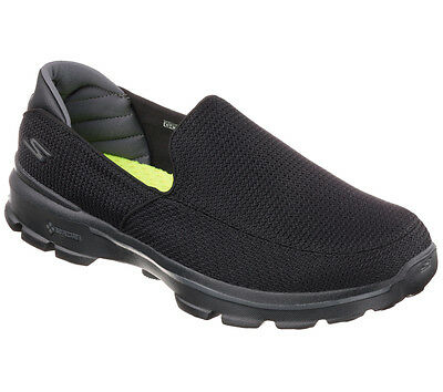 53980 Ew Wide Width Black Skechers New Shoe Go Walk 3 Men Mesh Slipon Walk Sport