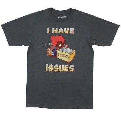 Deadpool I have Issues Marvel Comics Licensed Adult Shirt S-2XL