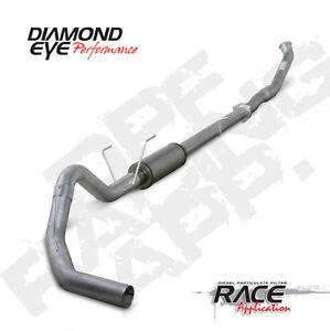 "Diamond Eye 5/"" Stainless DPF Back Exhaust System Fits 07.5-12 Dodge 6.7 Cummins"