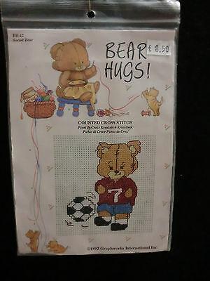 Kit Embroidery Cross Stitch Pattern Canvas Wire Bears On Aida Fabric 6 X 8 Cm Ebay