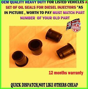 4-X-Oil-Seals-Para-Inyector-Diesel-Mazda-3-5-6-MPV-2-0-DTI-02-06-RF5C-13-R08