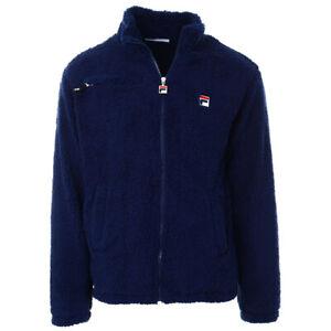 Details zu FILA Mens Bridgewater High Funnel Neck Sherpa Full Zip Jacket