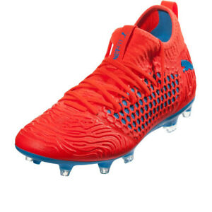 PUMA-Men-039-s-Future-19-3-NetFit-FG-AG-Red-Blast-Bleu-Azur-105539-01