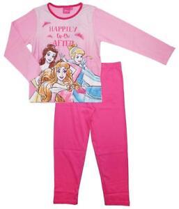 a0b13f8f60 Girls Pyjamas Disney Princess Pjs Happy Ever After Cinderella Belle ...
