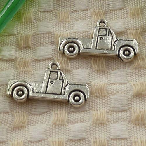 free ship 180 pcs tibetan silver truck charms 26x14mm #3640