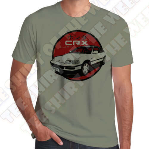 +7 colours of Tee Honda CRX Mens 100/% cotton T-shirt Personalised plate opt