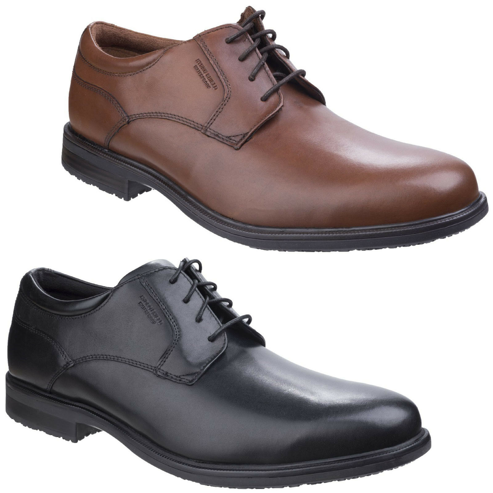 Rockport Essential II Plain Mens Leather Lace Up Casual Shoes