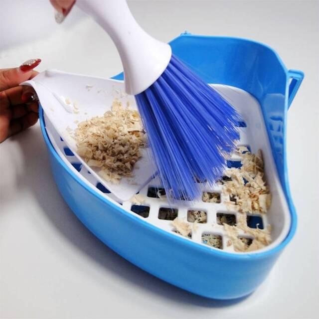 Pet Hamster Clean Brush Schaufel Reinigung Besen Kleine Kehrschaufel Werkzeug