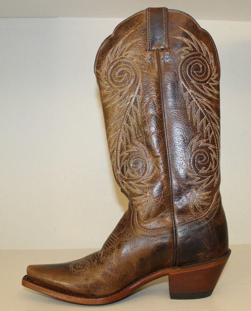 Justin damen Stiefel Sz 6.5 B B B Damiana braun Western Cowgirl Snip Toe Style L4332 20964a