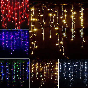 LED Icicle Hanging Dropping Curtain String Lights Christmas Indoor Outdoor Party eBay